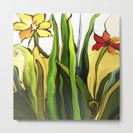 Fluid flowers Metal Print