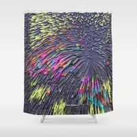 popart Shower Curtains featuring Pattern PopArt by Nico Bielow by nicobielow
