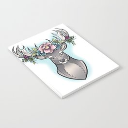 Floral Stag Notebook