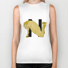 Pony Monogram Letter N Biker Tank