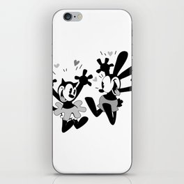 Oswald and Ortensia (B/W) iPhone Skin