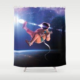 Space Uke  Shower Curtain