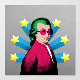 Wolfgang Amadeus Mozart Rock Superstar Canvas Print