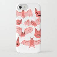 bats iPhone & iPod Cases featuring Bats by Jack Teagle