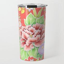 Coral Kimono Chintz Travel Mug