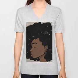 Afro Galaxy Unisex V-Neck