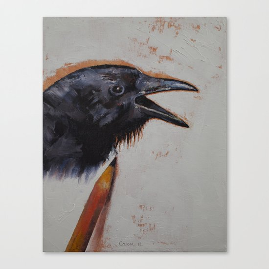 Raven Sketch Canvas Print
