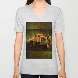 Waiting on LaGest ~ Tractor ~ Ginkelmier Inspired Unisex V-Neck