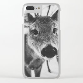 HELLO DEER V Clear iPhone Case