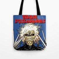 eddie vedder Tote Bags featuring Eddie Scissorhands by Azhmodai