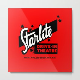 Starlite Drive In Red Metal Print
