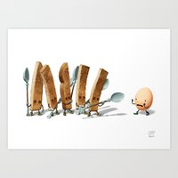 breakfast Art Prints featuring Breakfast by Andrew McIntosh