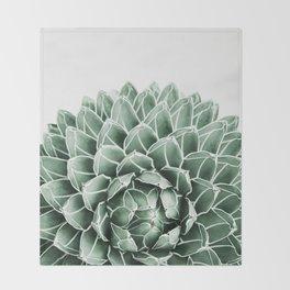 Succulent splendour Throw Blanket