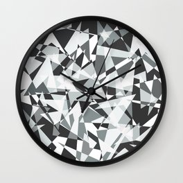 Gray-scale Triangle Scatter Wall Clock