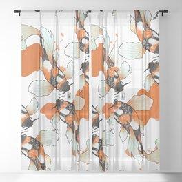 Koi Meditation Sheer Curtain