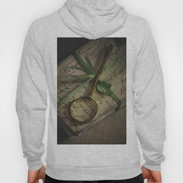 Old style loupe and vintage letters Hoody