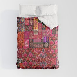 Epic Bohemian Moroccan Traditional Collage Artwork. Comforters