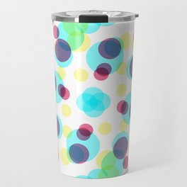 Colorful Geometric Dots Art Retro Pattern Travel Mug