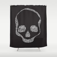 rebel Shower Curtains featuring Rebel by Estaschia Cossadianos