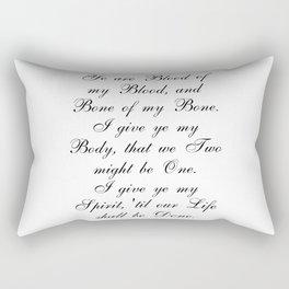 Outlander Wedding Vows Rectangular Pillow