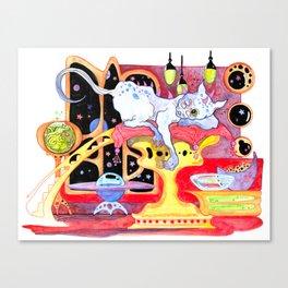 Alien Cat (the meow-tian) Canvas Print