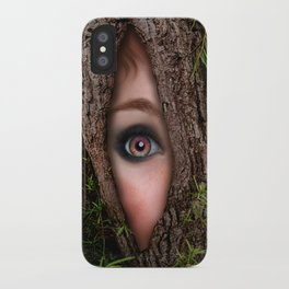 Beautiful Face trapped in a tree trunk iPhone Case