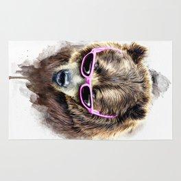 Cool shy bear Rug