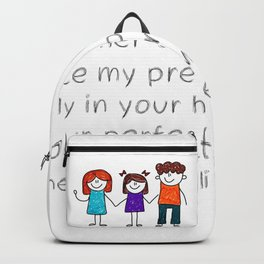 Christian,Bible Quote,Place my Family in God's hand Backpack