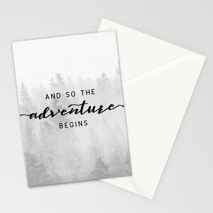 And So The Adventure Begins Stationery Cards