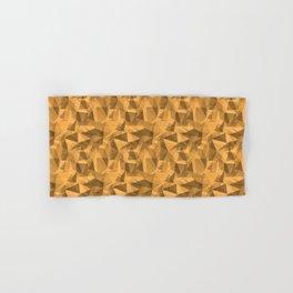 Abstract Geometrical Triangle Patterns 3 VA Bright Marigold - Spring Squash - Pure Joy - Just Ducky Hand & Bath Towel