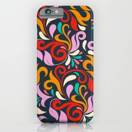 Damask floral pattern iPhone Case