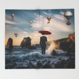 A la Magritte Throw Blanket