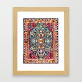 N131 - Heritage Oriental Vintage Traditional Moroccan Style Design Framed Art Print