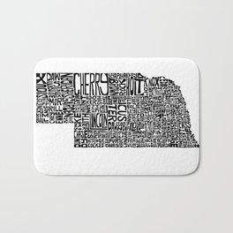 Typographic Nebraska Bath Mat