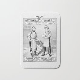 Grant And Wilson Election Poster -- 1872 Bath Mat