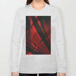 Red Abstractum Long Sleeve T-shirt