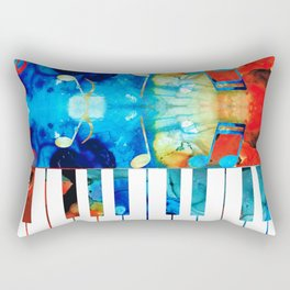 Colorful Piano Art by Sharon Cummings Rectangular Pillow