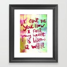 let me II Framed Art Print