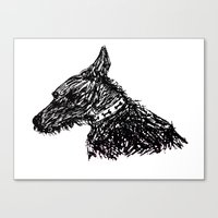 jack russell Canvas Prints featuring Jack Russell by Sinead Murphy