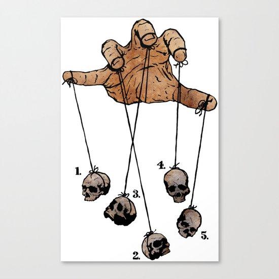 The Five Dancing Skulls Of Doom Canvas Print