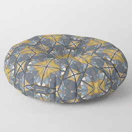 Mexican Tile Pattern Yellow Floor Pillow