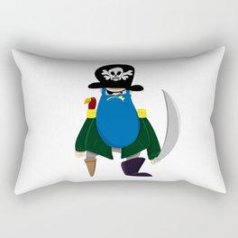 Bluebeard the Pirate, Scourge of the Seven Seas Rectangular Pillow