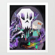 Skull Icon Art Print