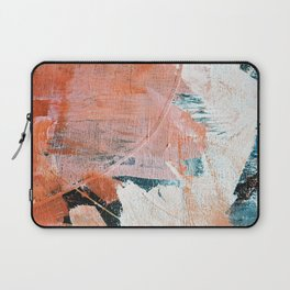 Interrupt [2]: a pretty minimal abstract acrylic piece in pink white and blue by Alyssa Hamilton Art Laptop Sleeve