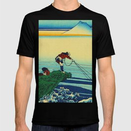 Vintage Japanese Art - Man Fishing T-shirt