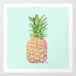 Mint Brite Pineapple Art Print