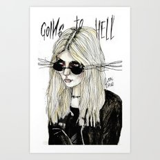 Going to hell no. 16 Art Print