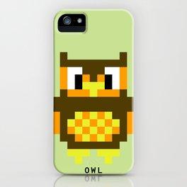 8 Bit Owl iPhone Case