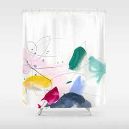 Colorful Marks Shower Curtain