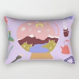Winter on Cradle Mountain Rectangular Pillow
